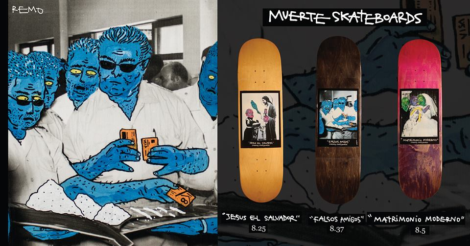 Muerte skateboards x Remo Quincot 242fd1380cb